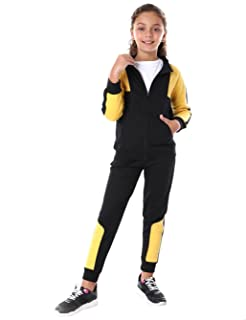 Andora Two-tone Side Pockets Jacket with Elastic Cuff Pants Set for Kids