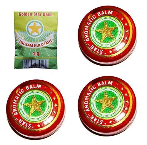 3 er PACK Vietnamesischer Balsam je 4g Золотая звездочка Golden Star