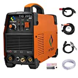 HITBOX TIG Welder 110V 220V 200A TIG Stick MMA IGBT Inverter High Frequency Dual Volatge Welding Machine (Model: TIG200A)