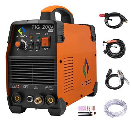 HITBOX TIG Welder 200A Portable TIG Welding Machine High Frequency 220V TIG MMA...
