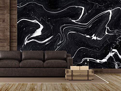 Oedim Fototapete Wand Schwarzer und weißer Marmor| Verschiedene Maße 200 x 150 cm | Dekor Esszimmer, Wohnzimmer, Zimmer