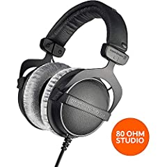 Closed over-ear headphones for professional mixing at home or in the studio Perfect for studio recordings thanks to the their pure and high-resolution sound Hard-wearing, durable, and robust workmanship Made in Germany The world famous DT770 Pro Head...