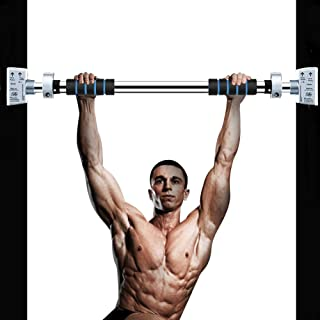 Pull Up Bar, Door Exercise Bar Without Screw Installation, Doorway Pull up Bar with Locking Mechanism, Workout Bar with Adjustable Width