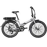 Legend Siena Bicicleta Eléctrica Plegable Urbana Smart eBike Ruedas de 24 Pulgadas, Frenos de Disco Hidráulicos, Batería Ion 36V (Batería Panasonic 504Wh | Autonomía 100km, Blanco Artic)