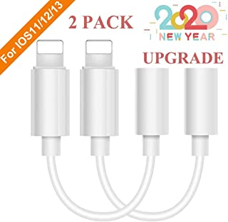 [MFi Certified] Lighting to 3.5 mm Headphone Adapter Earphone Earbuds Adapter Jack 2 Pack,Quick Linking,Compatible with Apple iPhone 11 Pro Max X/XS/Max/XR 7/8/8 Plus Plug and Play Floppy Diskettes