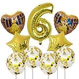 Wgxssjc Globo 9pcs Bella y la Bestia de Aluminio de 30 Pulgadas Globos Decoraciones de la Fiesta de cumpleaños número Globo Globos Princesa de la Muchacha (Color : 6)