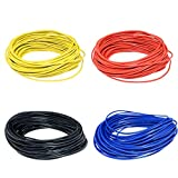 Mingzhu 10 Meters 10M UL-1007 24AWG Hook-up Wire 80C / 300V Cord DIY Electrical Wire Cable Red/Black/Blue/Yellow 24 AWG