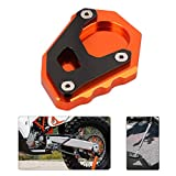 An Xin CNC motocicleta pie pad soporte lateral Kickstand extensión soporte placa piezas para aventura 1050 1090 Super Adventure/R 1190 1290 2017 - naranja