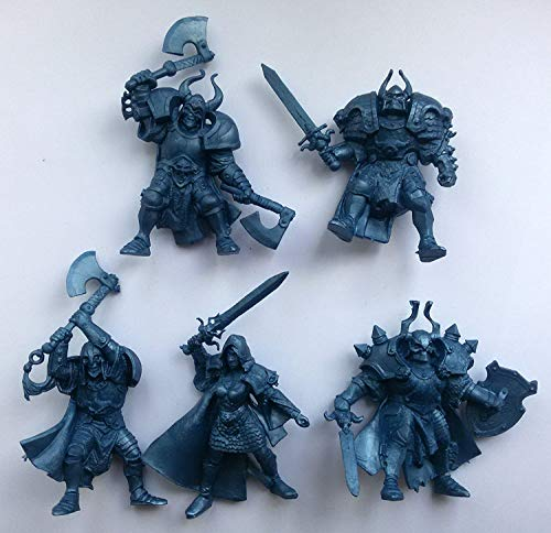 Fantasy Battles DND Action Miniatures Undead Wariors 2 inch 1/32 - 5 Fantasy Figures Tehnolog Toy Soldiers