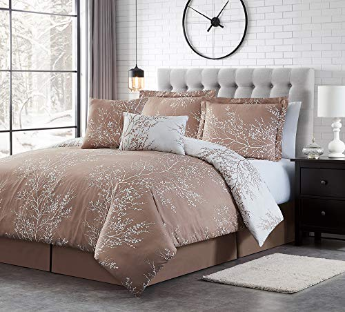 Spirit Linen Warm and Cozy Comforter Set Platinum Bedding Collection Baby Soft Texture Plush Bed Blanket (Taupe, King)