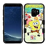 for Galaxy S9, Hard+Rubber Dual Layer Hybrid Shockproof Rugged Impact Cover Case - Sponge Bob #ZSD
