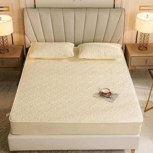 haiba Sábana bajera ajustable de alta calidad, suave y acogedora, ropa de cama, cama king size 100 x 200 + 25 cm