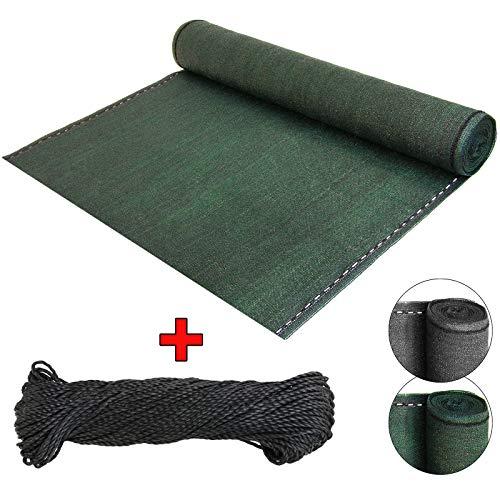BB Sport Sichtschutz Zaunblende Schattiernetz - UV-resistent, reißfest, windfest - Grün 1.8m x 5m