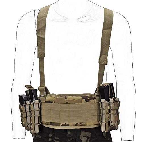 SINAIRSOFT Tactical Waist Belt with X-Shaped Suspenders Free Straps...