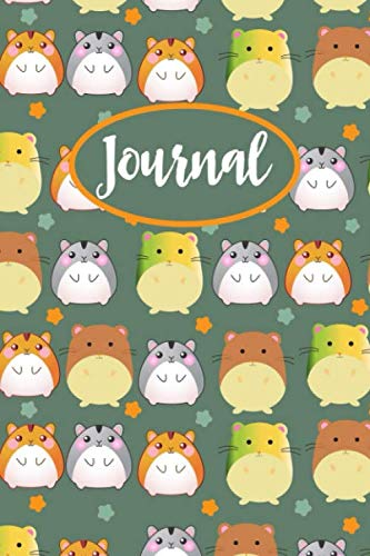 Hamster Journal: Lined Notebook To Write In, Blank Notebook With Cute Hamster Pattern, Hamster Gifts For Teens & Adults.