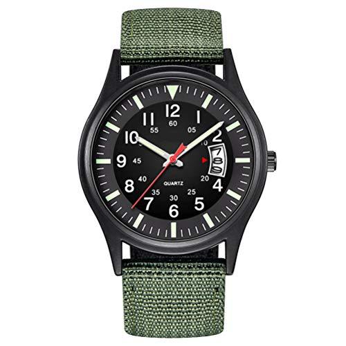 Macabolo Herren Armee Taktische Feld Sport Analog Uhren Arbeitsuhr wasserdicht Outdoor Casual Quarz Armbanduhr für Männer