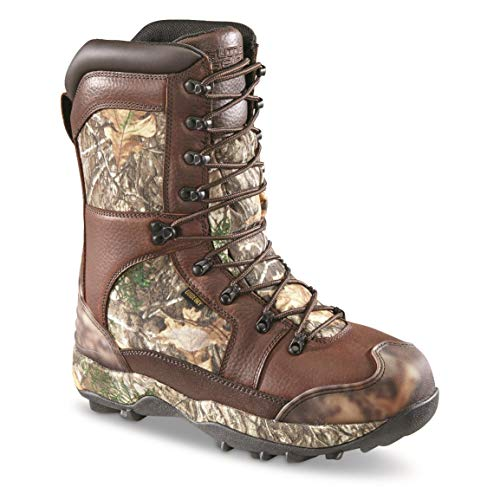 Guide Gear Monolithic Extreme Waterproof Insulated Hunting Boots, 2,400-gram Thinsulate Ultra, Realtree Edge, 13D (Medium)