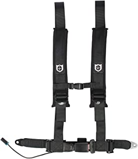 Pro Armor A16UH348BL Auto Style 4 Point Harness 2 Inch Lap Seat Belt Straps Black Driver Side