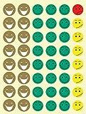 APLI Kids 835220 Bolsa de gomets cara feliz, 12 hojas adhesivo removible