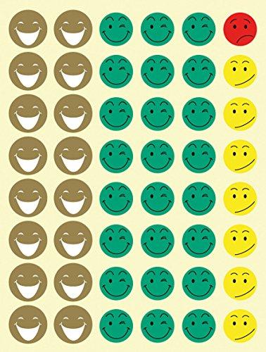 APLI Kids - Bolsa de gomets cara feliz, 12 hojas adhesivo removible