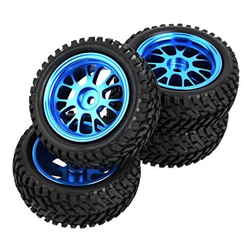 4PCS RC Crawler Neumáticos 1,7 Pulgadas RC Neumáticos Portátiles Blue RC Crawler Neumáticos Durables 4pcs RC Neumáticos para WL A959 A979 1/18 Modelo RC Car