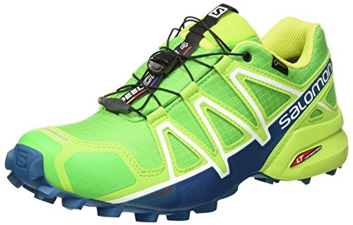 Salomon Men's Speedcross 4 GTX Trail Running Shoes, Green (Classic Green/Lime Green/Poseidon), 8.5 UK (42 2/3 EU)
