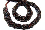 World Wide Gems Beads Gemstone 13 Inch Long Full Strand Natural Iron Tiger Eye Rondelle Approx 2mm Micro Cut Beads Drilled Gemstone Faceted Rondelles Israel Cut Round Code-HIGH-39209