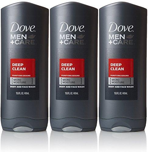 Dove Men Plus Care Deep Clean Body Wash & Face Wash 13.5 Oz (3 Pack)