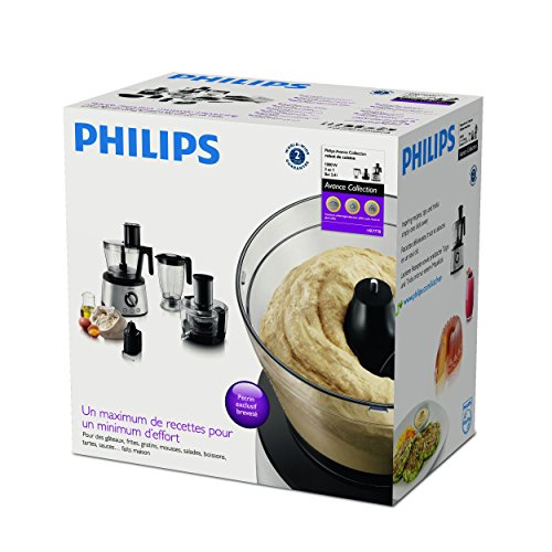 Philips HR7778/00 Küchenmaschine (1.300 Watt, inkl. Knethaken, Entsafter, Standmixer und Zitruspresse) schwarz/silber - 21