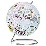 SUCK UK Großer Globus zum Ausmalen, Karte und Edelstahl, Mehrfarben