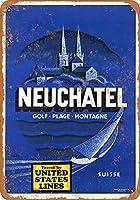 ヌーシャテルスイス金属レトロ壁の装飾ティンサインバー、カフェ、家の装飾