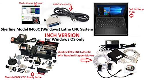 Fantastic Deal! Sherline 8400C INCH Windows 3.5″ x 8″ Lathe CNC System +C Package + USB Contro...