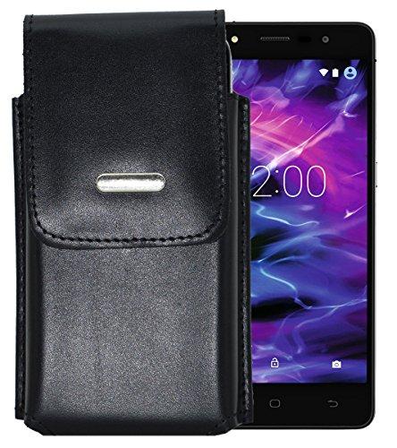 Vertikal Etui für / MEDION® LIFE® E5005 (MD 99915) / Köcher Tasche Hülle Ledertasche Vertical Hülle Handytasche mit einer Gürtelschlaufe auf der Rückseite