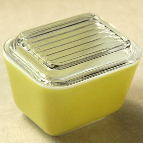 Vintage Pyrex (1.5 cup) Yellow Refrigerator Baking Dish with Glass Lid (#501)