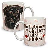 Kaffeebecher mit Motiv Hund Große XXL Tasse Schwarzer Labrador