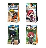 Boîtes de fête Sac d'anniversaire pour Enfant, 12 pcs Naruto cadeaux boîtes, boîtes de bonbons Thème réutilisable Naruto Sacs de fête pour anniversaires enfants La fête favorise le sac de fête