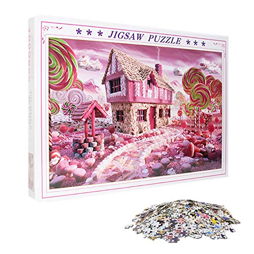 1000 Piece Jigsaw Puzzle Adults Landscape Puzzles Kids Intelligent Toys Eductional Games Stress Relief Gifts for Birthday (Sweet House)