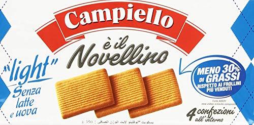 3x Campiello Novellino light Kekse ohne Milch & ohne Eier 350g Kuchen Butterkeks