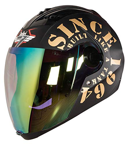 Steelbird TANK with Night Vision visor in Matt Finish (Large 600 mm,...
