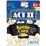 ACT II Kettle Corn Microwave Popcorn Bags, 6-Count (Pack of 6)