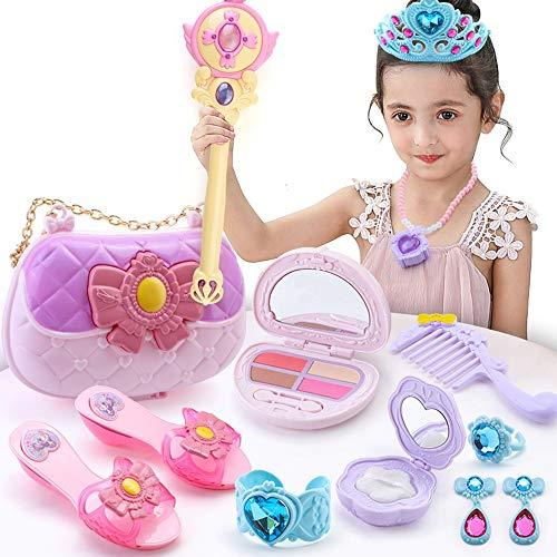 Lihgfw Mädchen-Spielzeug-Kosmetik-Satz Verkleidung Prinzessin 3-15 Jahre alte Kinder Zauberstab Handtasche Cosmetic Bag Spiegel (Color : Rechargeable Version)