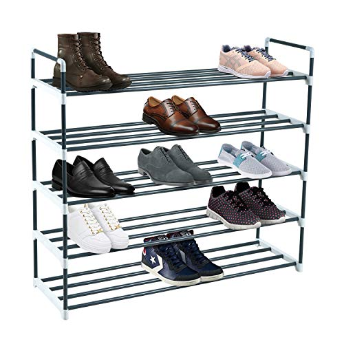 Knight 5 Tier/7 Tier Heavy Duty Metal Shoe Rack, Quick Assembly No Tools Required (5 Tier)