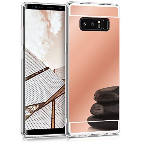 kwmobile Samsung Galaxy Note 8 DUOS Hülle - Handyhülle für Samsung Galaxy Note 8 DUOS - Handy Case in Rosegold spiegelnd