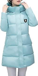 Zhhlaixing Women's Hooded Ultralight Medium Length Quilted Coat - Elegant Cotton Outerwear Jacket Parka Waterproof