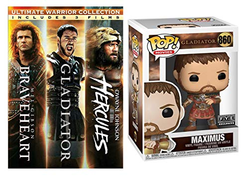 'Death smiles at us all. All we can do is smile back.' Braveheart + Gladiator + Hercules + Maximus FYE Funko POP! Exclusive (Battle Wounded) BUNDLE