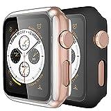 ZOOMPROTEC - Cover protettiva per Apple Watch, 40 mm/44 mm, 2 pezzi, colore: Nero