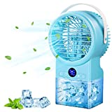 IMIKEYA Portable Air Conditioner, Personal Mini Air Conditioner with Timing, Evaporative Air Cooler, 7 Colors Light, 3 Speeds Quiet Portable AC, Desk Air Conditioner Fan for Personal Home Office