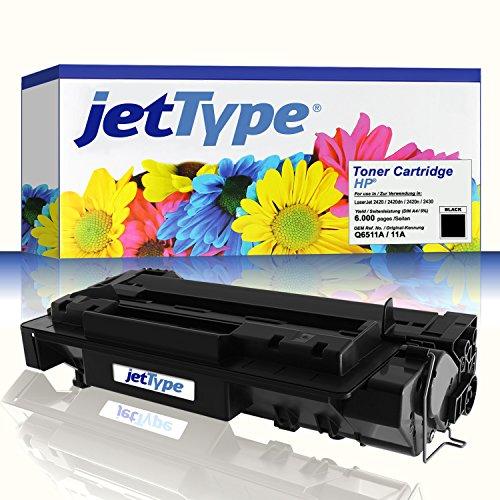 jetType Toner ersetzt HP Q6511A / 11A für LaserJet 2420 / 2420dn / 2420n / 2430, schwarz, 6.000 Seiten