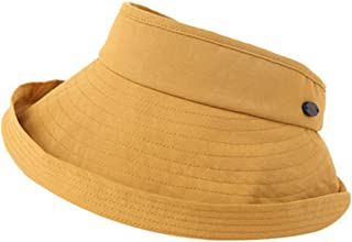 LPKH Hat Sun Cap Ladies Foldable Beach Hat Visor Sun Hat Wide Brim Face Framer Cap Foldable -Travel Garden Beach Visor Caps hat (Color : Yellow)