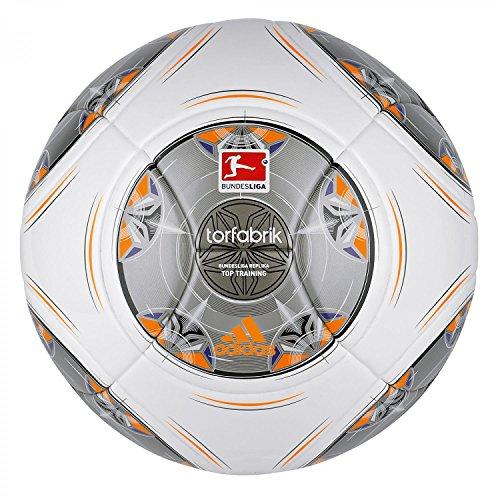 adidas Fußball Torfabrik 2013 DFL 13 Top Training, Wht/Silver/Zest/Mtsi, 4, G73537